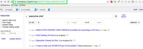 Craigslist Resume Search by How To Create Resume Alerts On Craigslist The Restaurant