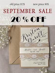 sale rustic lace wedding invitation calligraphy wedding With lace wedding invitations for sale