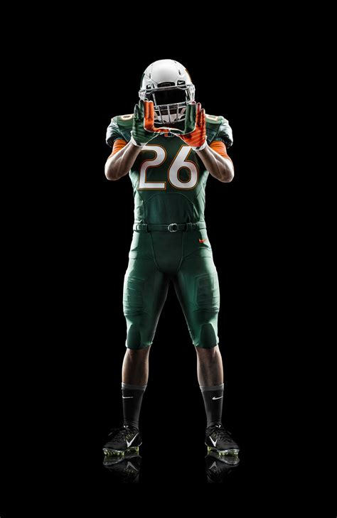 miami hurricanes unveil   nike football uniform