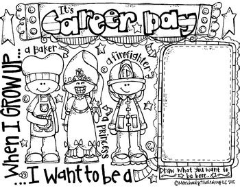 career day coloring page freebie  melonheadz
