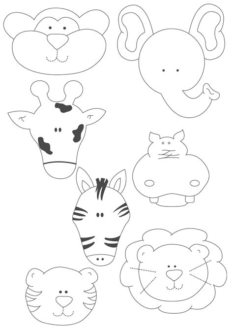 moldes de animales de fomi para imprimir artesanias molde de regalo animalitos de la
