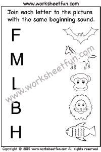 beginning sound  worksheets kindergarten worksheets