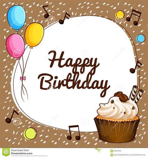 happy birthday theme  cupcake  balloons stock