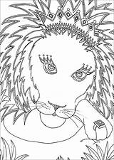 Lion Coloring Pages Cute Children sketch template