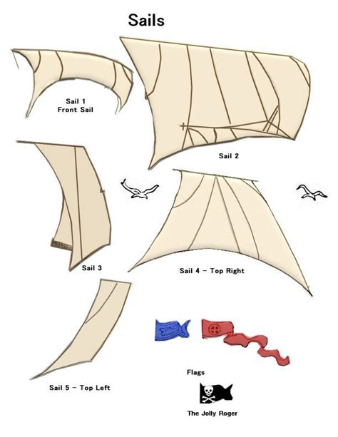 Pirate Ship Sail Template by Paper Crafts Pirate Ship Sails Ammey S Attic