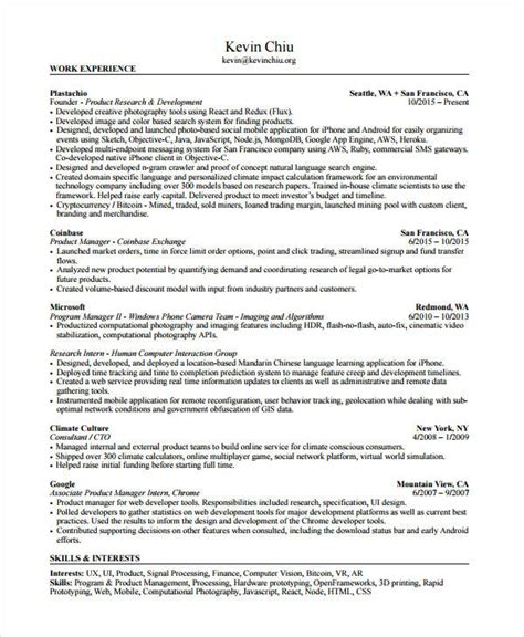 Product Manager Resume Pdf by Product Manager Resume 8 Free Pdf Documents Free Premium Templates