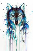 on deviantart more awesome tattoo wolf drawing wolf painting water  Colorful Wolf Painting