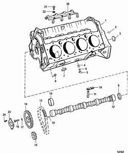 Cylinder Block  U0026 Camshaft For Mercruiser  5 0l Efi Alpha
