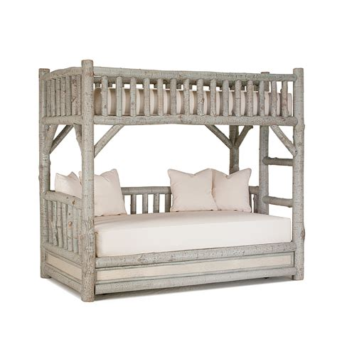 bunk beds rustic bunk bed with trundle la lune collection
