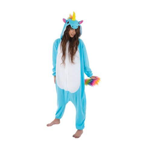 deguisement kigurumi licorne bleu femme