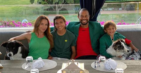 Tiger Woods Shares Rare Photo With Kids, Girlfriend ...