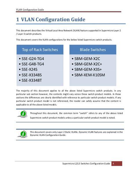 configuration bureau l2 l3 switches vlan configuration guide
