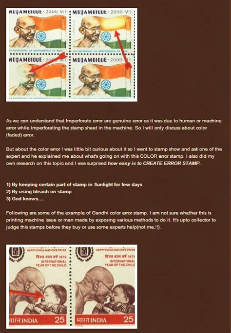 Gandhi Stamps Club Error Stamps Collection Cds Stamps
