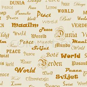 Peace . Seamless wallpaper with the word peace in ...