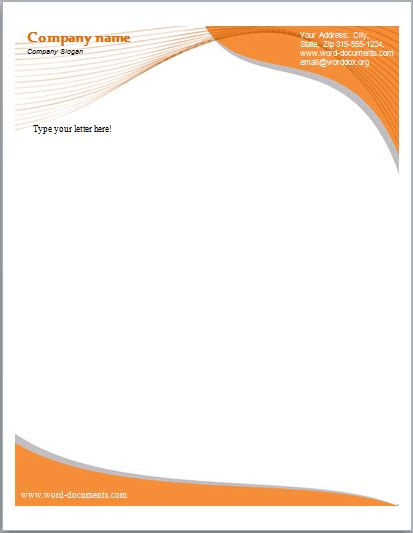 letterhead templates  word excel