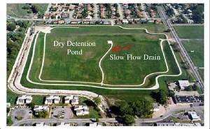 Dry Detention Pond With Slow Flow Drain  6