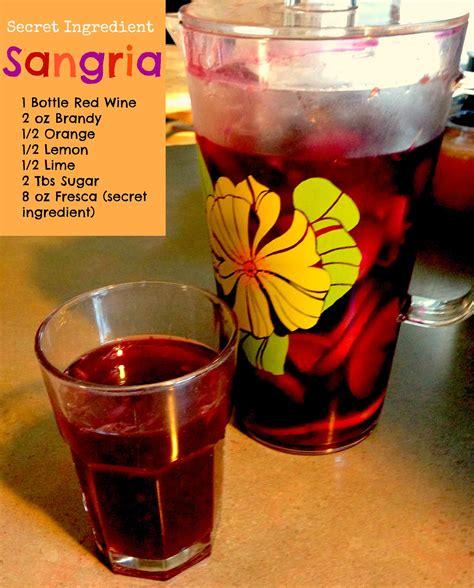 sangria recipe secret ingredient sangria sweetphi
