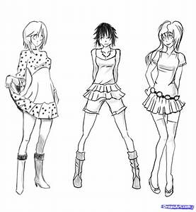 Step 15. How to Sketch Anime Clothes