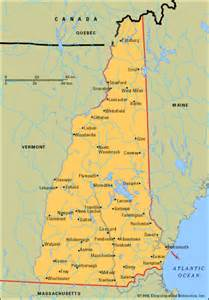 New Hampshire City Map