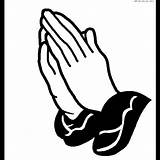Praying Hands Coloring Pages Hand Clip Sheets Clipart sketch template