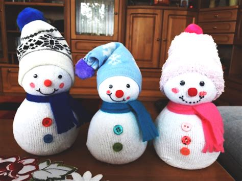 deco noel fait main bonhomme de neige  lanfr