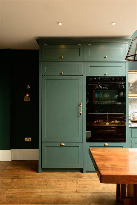 green kitchen app integrated appliances and beautiful bespoke green 1382