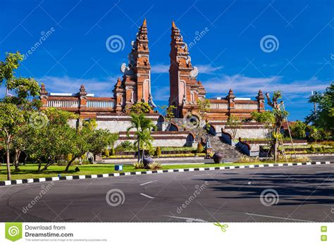 Arch Entrance To The Hindu Temple. Bali, Indonesia Stock