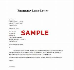 emergency leave letter sample With emergency message templates