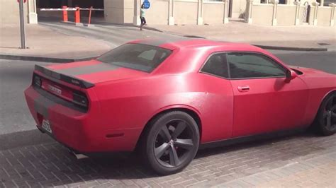 Gun-metal Matte Red Dodge Challenger Srt8