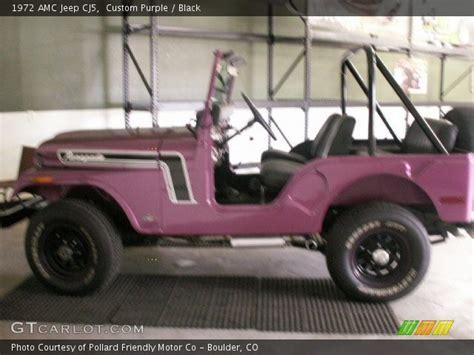 purple jeep interior custom purple 1972 amc jeep cj5 black interior