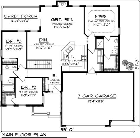 Ranch Style House Plan 3 Beds 2 Baths 1501 Sq/Ft Plan