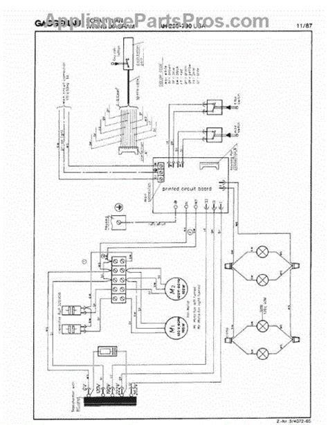 parts for gaggenau ah250 790 tech wiring diagram page 1 parts appliancepartspros com