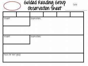 guided reading exploring early literacy With guided reading observation template