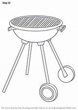 Grill Bbq Draw Step Drawing Objects Everyday Tutorials Drawingtutorials101 Previous sketch template