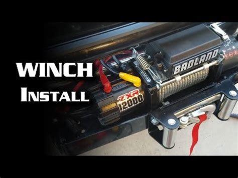 Badland Winch Wiring Setup by Mounting A Hf 2000lb Atv Winch To Trailer Hitch Doovi