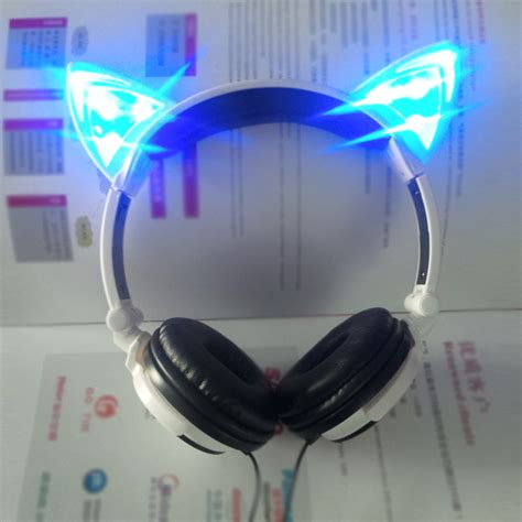 headphones with light up cat ears led light headphone 2016 most stylish cat ear headphones