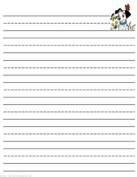 lined paper  kids printable lined writing paper writing paper template  writing paper