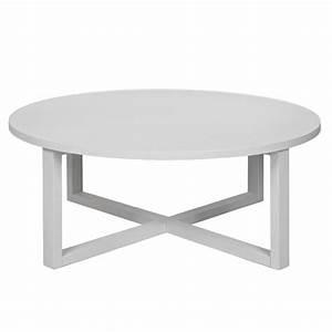 Table Basse Ronde Blanche : table basse ronde blanche et bois table basse salon blanc laque maisonjoffrois ~ Teatrodelosmanantiales.com Idées de Décoration