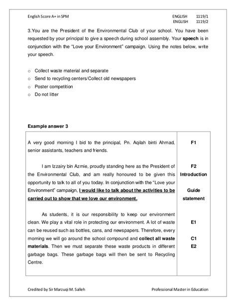 spm essay report writing