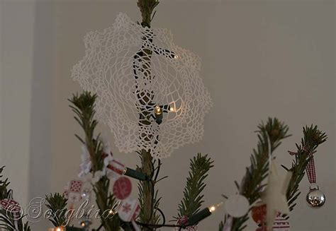 sugar water for christmas tree and white tree 12 days of decorations day 12 songbird
