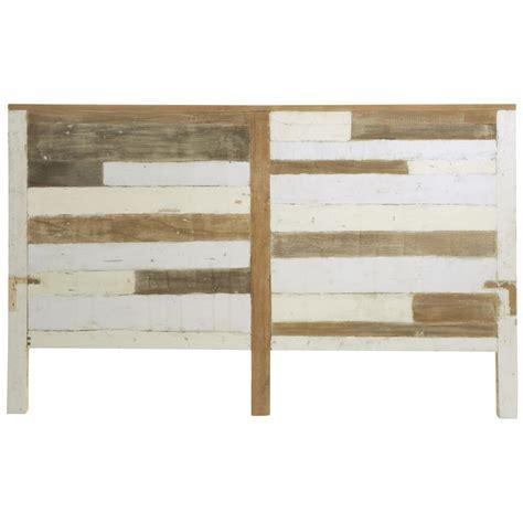 tete de lit en bois recycle   cm arcachon maisons du monde