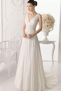 a line v neck wedding dresses pictures ideas guide to With v neck wedding dress