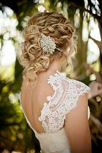 Wedding Hairstyles With Accessories Dipped In Lace