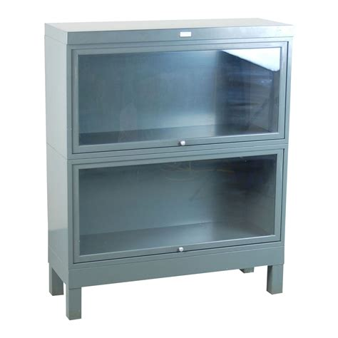 barrister bookcases with glass doors vintage industrial grey steel barrister bookcase