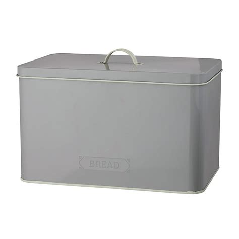 Bread Pantry Pantry Embossed Bread Bin Grey Fast Shipping