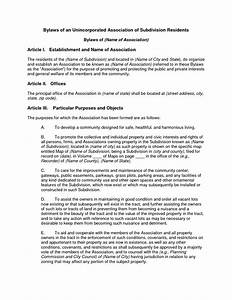 articles of incorporation conflict of interest With non profit bylaws template