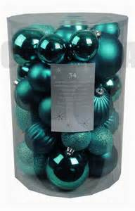 34 luxury shatterproof tree baubles decorations teal blue topaz ebay