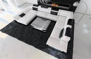 Couch überwurf Xxl : big sectional sofa enzo xxl leather couch with led lights colour selection ~ Eleganceandgraceweddings.com Haus und Dekorationen