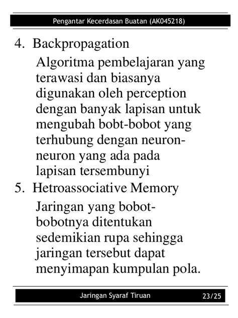 Jaringan saraf-tiruan
