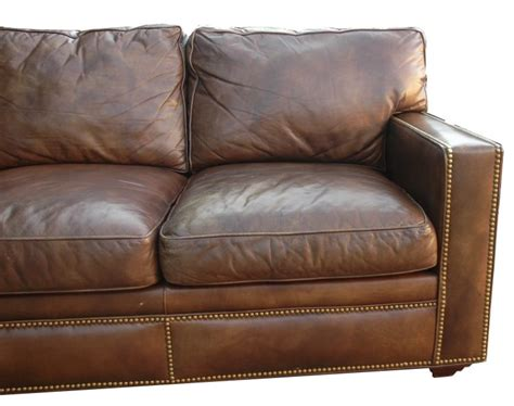 distressed brown leather sofa distressed leather sectional homesfeed